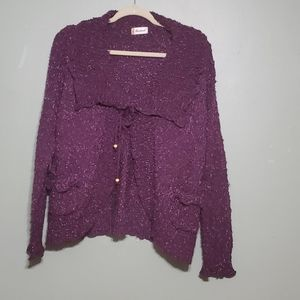 Point final knitted cardigan